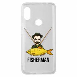 Чохол для Xiaomi Redmi Note Pro 6 Fisherman and fish