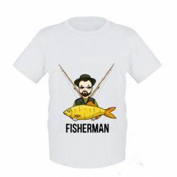 Дитяча футболка Fisherman and fish