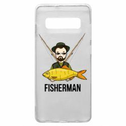 Чохол для Samsung S10+ Fisherman and fish