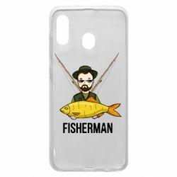 Чохол для Samsung A20 Fisherman and fish