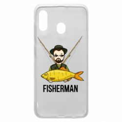 Чохол для Samsung A30 Fisherman and fish