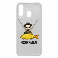 Чохол для Samsung A40 Fisherman and fish