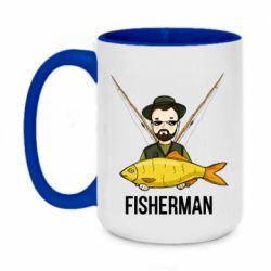 Кружка двоколірна 420ml Fisherman and fish