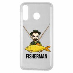 Чохол для Samsung M30 Fisherman and fish