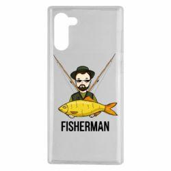 Чохол для Samsung Note 10 Fisherman and fish