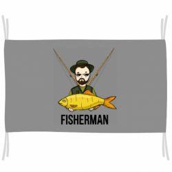 Прапор Fisherman and fish
