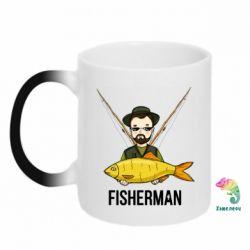 Кружка-хамелеон Fisherman and fish