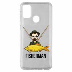 Чохол для Samsung M30s Fisherman and fish
