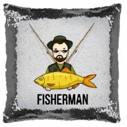 Подушка-хамелеон Fisherman and fish