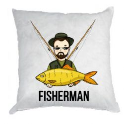 Подушка Fisherman and fish