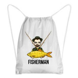 Рюкзак-мішок Fisherman and fish