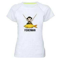 Жіноча спортивна футболка Fisherman and fish