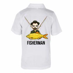 Дитяча футболка поло Fisherman and fish