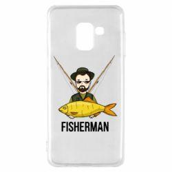 Чохол для Samsung A8 2018 Fisherman and fish