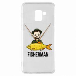 Чохол для Samsung A8+ 2018 Fisherman and fish