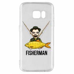 Чохол для Samsung S7 Fisherman and fish