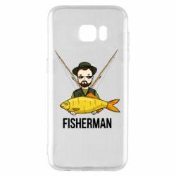 Чохол для Samsung S7 EDGE Fisherman and fish