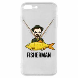 Чохол для iPhone 8 Plus Fisherman and fish