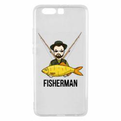 Жіноча футболка Fisherman and fish