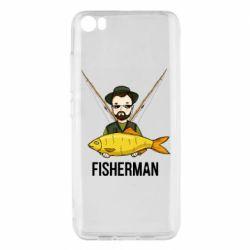 Жіноча футболка з V-подібним вирізом Fisherman and fish