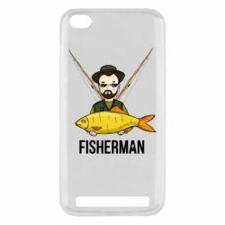 Чоловіча стрейчева футболка Fisherman and fish