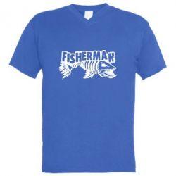 Чоловіча футболка з V-подібним вирізом Fisherman