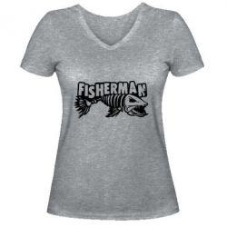 Жіноча футболка з V-подібним вирізом Fisherman