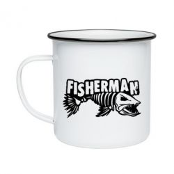 Кружка емальована Fisherman