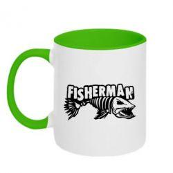 Кружка двоколірна 320ml Fisherman