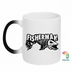 Кружка-хамелеон Fisherman