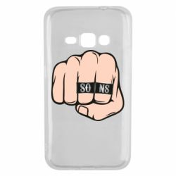 Чехол для Samsung J1 2016 Fist with rings SONS