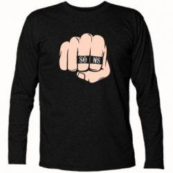 Футболка с длинным рукавом Fist with rings SONS