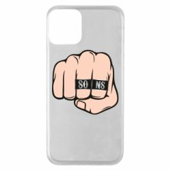 Чехол для iPhone 11 Fist with rings SONS
