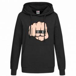 Женская толстовка Fist with rings SONS