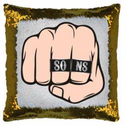 Подушка-хамелеон Fist with rings SONS