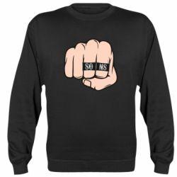 Реглан (свитшот) Fist with rings SONS