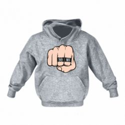 Детская толстовка Fist with rings SONS