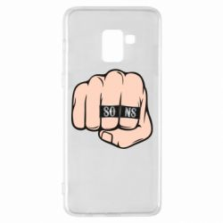 Чехол для Samsung A8+ 2018 Fist with rings SONS