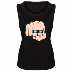 Женская майка Fist with rings SONS
