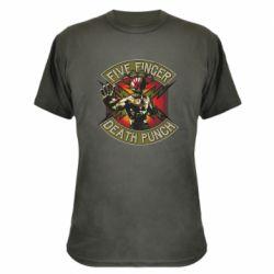 Камуфляжная футболка Five finger death punch