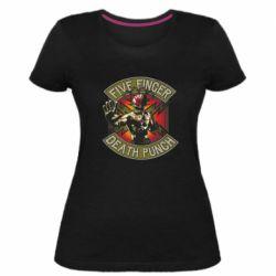 Женская стрейчевая футболка Five finger death punch