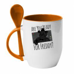 Кружка с керамической ложкой Five Nights at Freddy's 1
