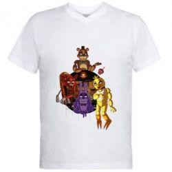 Чоловіча футболка з V-подібним вирізом Five Nights At Freddy's