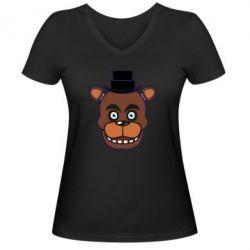 Жіноча футболка з V-подібним вирізом Five Nights at Freddy's
