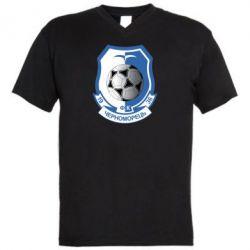 Мужская футболка  с V-образным вырезом ФК Черноморец Одесса - FatLine