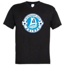 Мужская футболка  с V-образным вырезом ФК Днепр - FatLine