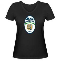 Женская футболка с V-образным вырезом ФК Говерла Ужгород - FatLine