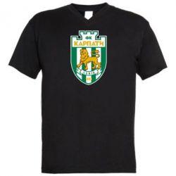 Мужская футболка  с V-образным вырезом ФК Карпаты Львов - FatLine