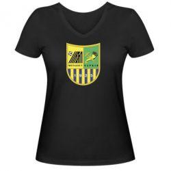 Женская футболка с V-образным вырезом ФК Металлист Харьков - FatLine