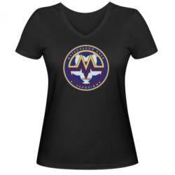 Женская футболка с V-образным вырезом ФК Металлург Запорожье - FatLine